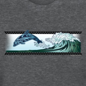 Dolphin riding the wave - Women's T-Shirt