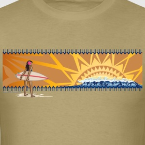 Sunset surfing - Men's T-Shirt