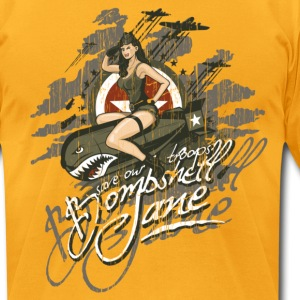 Bombshell Jane - Men's T-Shirt by American Apparel