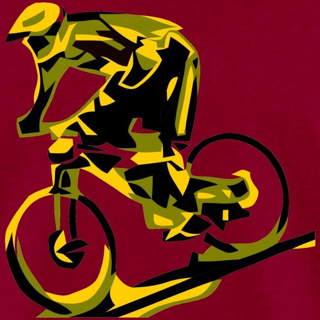 MTB Shirt - DH Freak - Mountain Bike Rider - Red