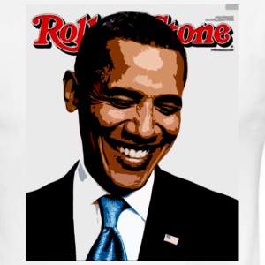 barack obama rolling stone T-Shirts - Men's Ringer T-Shirt