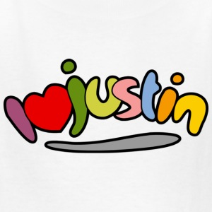 I love Justin - Kids' T-Shirt