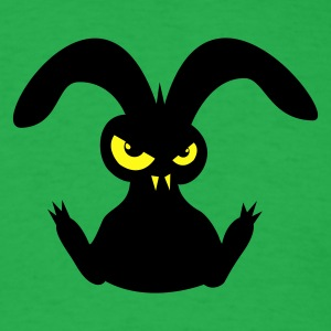 bad rabbit hare bunny bunnies eyes evil T-Shirts - Men's T-Shirt