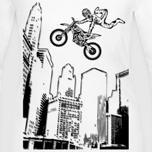 Dirt Biking Cityscraper - Women's Long Sleeve Jersey T-Shirt