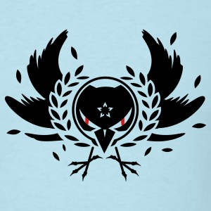 A crow with a laurel wreath and dangerous eyes T-Shirts - Men's T-Shirt