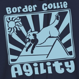 Border Collie Agility Hooded Sweatshirt - Men's Hoodie