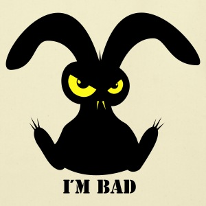 i´m bad rabbit bunny bunnies hare jackass eye evil gaze look Bags  - Eco-Friendly Cotton Tote