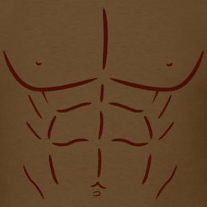 Fake Abs - Dark - Men's T-Shirt