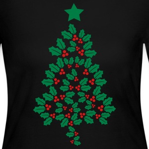 Holly Christmas Tree Long Sleeve Shirts - Women's Long Sleeve Jersey T-Shirt