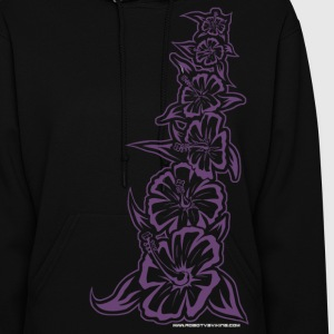 Hawaiian tribal flowers - Women's Hoodie