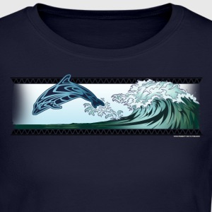 Dolphin riding the waves - Women's Long Sleeve Jersey T-Shirt