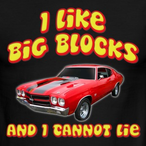 I Like Big Blocks And I Cannot Lie Chevelle T-Shirts - Men's Ringer T-Shirt
