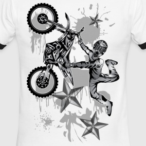 Star Splattered Dirt Biker - Men's Ringer T-Shirt