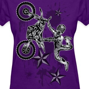 Star Splattered Dirt Biker - Women's T-Shirt