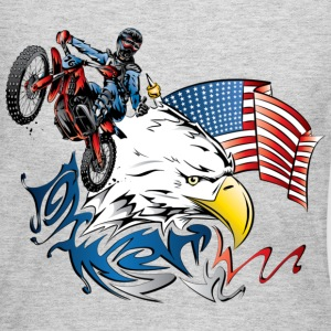 Patriotic Dirt Biker - Women's Long Sleeve Jersey T-Shirt