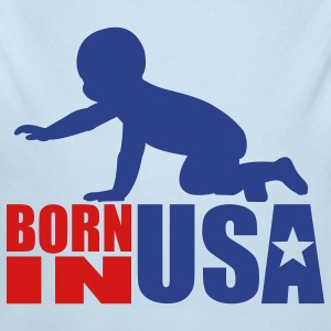 Born In USA - Long Sleeve Baby Bodysuit
