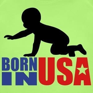 Born in USA - Short Sleeve Baby Bodysuit