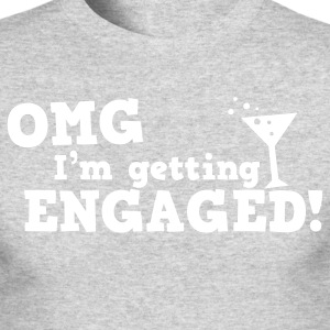omg im getting engaged with coaktail glass marriage Long Sleeve Shirts - Men's Long Sleeve T-Shirt by Next Level
