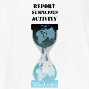 Report Suspicious Activity White Text Kids' Shirts - Kids' T-Shirt