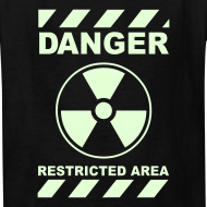 Design ~ Funny Radioactive Label-Glow-In-The-Dark