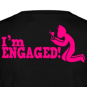 man on bended knee im engaged!  Long Sleeve Shirts - Women's Long Sleeve Jersey T-Shirt