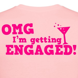 omg im getting engaged with coaktail glass marriage Long Sleeve Shirts - Women's Long Sleeve Jersey T-Shirt