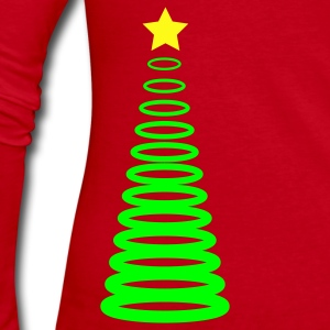 Christmas xmas tree circles Long Sleeve Shirts - Women's Long Sleeve Jersey T-Shirt
