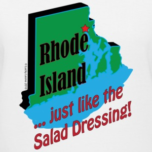 Rhode Island... just like the salad dressing - Women's V-Neck T-Shirt