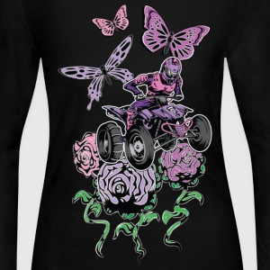 Butter Flowered Quad - Women's Long Sleeve Jersey T-Shirt