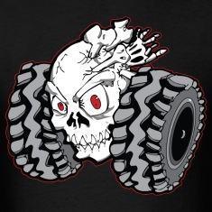 Off-Road Skull Roller T-Shirts