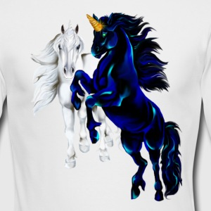 Two Unicorn STallions - Men's Long Sleeve T-Shirt by Next Level
