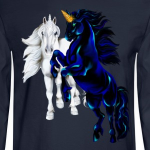 Two Unicorn STallions - Men's Long Sleeve T-Shirt