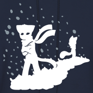 Design ~ Sad Cats In Snow Back\Front Hoodie