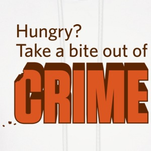 Hungry? Take a Bite Out of Crime Hoodie - Men's Hoodie