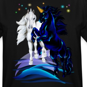 Two Unicorn Stallions - waves - Men's Tall T-Shirt