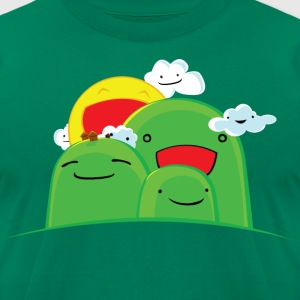 Happy Hills T-Shirts - Men's T-Shirt by American Apparel