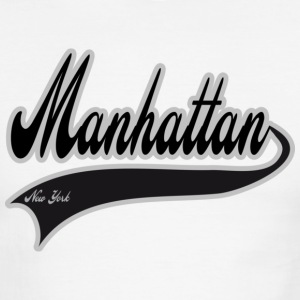 manhattan new york T-Shirts - Men's Ringer T-Shirt