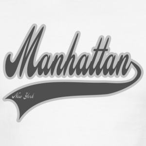 manhattan new york grey T-Shirts - Men's Ringer T-Shirt