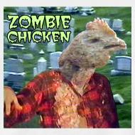 Design ~ Zombie Chicken Lightweight Tee White