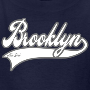 brooklyn new york white Kids' Shirts - Kids' T-Shirt