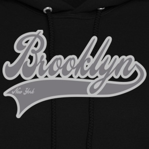 brooklyn new york grey Hoodies - Women's Hoodie