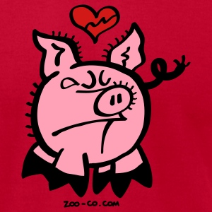 Broken Hearted Pig T-Shirts - Men's T-Shirt by American Apparel