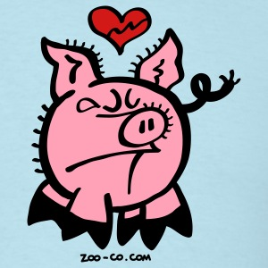 Broken Hearted Pig T-Shirts - Men's T-Shirt