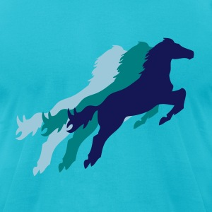 Three Horses - Men's T-Shirt by American Apparel