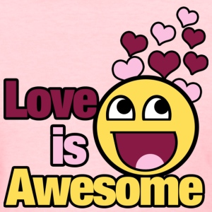 Awesome Smiley Love for Valentines Day - Women's T-Shirt