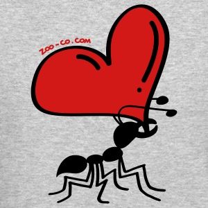 Ant Carrying the Love's Heart Long Sleeve Shirts - Crewneck Sweatshirt