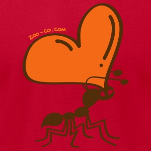 Ant Carrying the Love's Heart T-Shirts - Men's T-Shirt by American Apparel