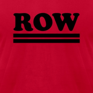 row T-Shirts - Men's T-Shirt by American Apparel