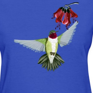 Red Throated Hummingbird - Women's T-Shirt