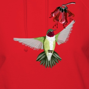 Red Throated Hummingbird - Women's Hoodie